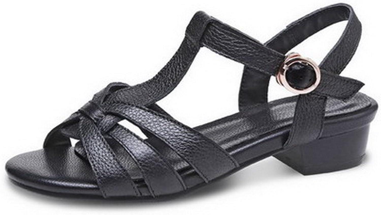 Amonymode Kvinnors mjuka material Öppen Öppen Öppen tå Låga klackar Fasta sandaler  perfekt