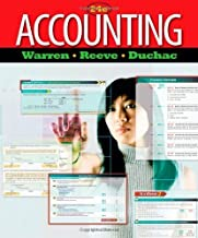 Accounting (Managerial Accounting) by Warren, Carl S., Reeve, James M., Duchac, Jonathan 24th edition (2011) Hardcover