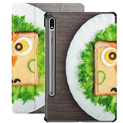 Funda para Galaxy Tab S7 Funda Delgada y Ligera con Soporte para Tableta Samsung Galaxy Tab S7 de 11 Pulgadas Sm-t870 Sm-t875 Sm-t878 2020 Release, Design Food Creative Sandwich Imagen Infantil