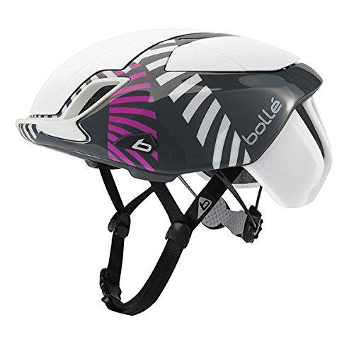 bollé The One, Fahrrad Helm Unisex Erwachsene L weiß (White Circles)