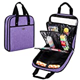 YARWO Sewing Accessories Organizer, Sewing Supplies Storage Bag for Sewing Tools and Craft Supplies, Purple (Patented Design)