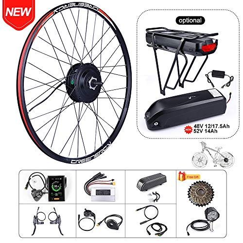 BAFAGN 48V 500W Ebike Conversion Kit for Electric Bike DIY Electric Bike Motor Kit (27.5' Wheel+ 850C Display+15Ah Rear Battery)