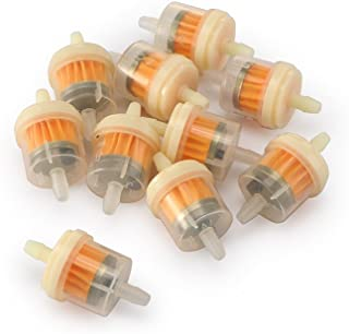 TiooDre 10 Pcs Universal Motorcycle Scooter Gas Liquid Gasoline Fuel Filter Inline Yellow