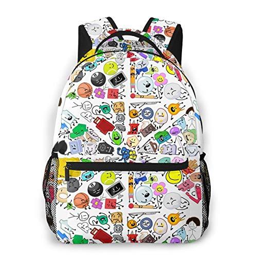 NO2BB 3D Print Casual Backpack,Battle for Bfdi Multifunctional Schoolbag Knapsack Rucksack