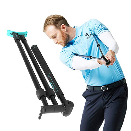 WINNER SPIRIT Miracle 303 Golf Swing Training Trainer Aid, Adjustable Length Size, Hand Strength, Flexibility, Portable Weight, 18.5inch/47cm, 0.88lb/400g