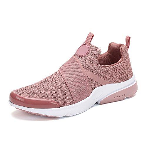 Damen Sneaker Laufschuhe Herren Mesh Leichte Running Mode Straßenlaufschuhe Outdoors Sports Unisex Pink 37 EU