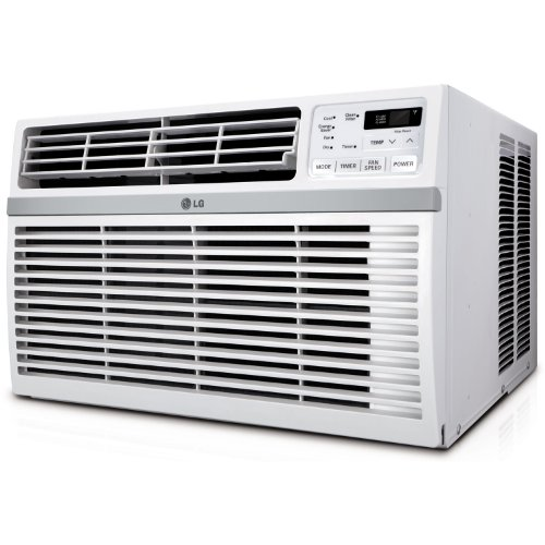 LG Energy Star Qualified 18,000 BTU Window-Mounted Air Conditioner (230V Plug) Cools Rooms Up to 1000 Sq Ft. with 3 Cooling Speeds, 12 Hour On/Off Timer, Anti-Corrosion Coating, Remote Included