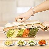 wxqym 5 en 1 trituradora de Alimentos Vegetal Slicer Cobertod Copper con contenedor de Almacenamiento for Tomates, cebollas, Zanahorias
