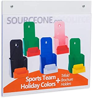 SOURCEONE.ORG Source One Deluxe 11 x 8 1/2-Inch Wall Mount Sign Holders with Hole