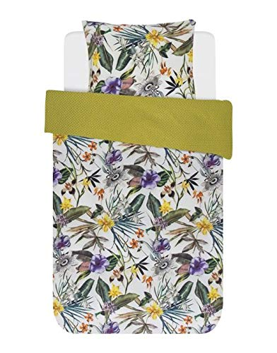 ESSENZA Zouk Duvet Cover 140 x 200/220 cm + 1 Pillowcase 60 x 70 cm – Duvet Cover Collection Finished with a Double Flap.