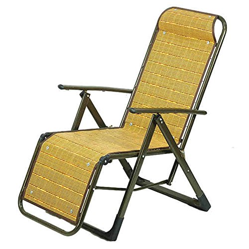 QIDI Chaise Longue Pliable Simple Bambou 60 * 11 * 92cm