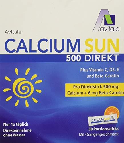 Avitale Calcium Sun 500 Direkt - Zur Vorbereitung Ihrer Haut auf die Sonne mit 500 mg Calcium und 6 mg Beta-Carotin plus Vitamin C, D3 und E, 75 g