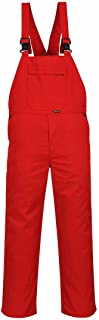 Bib and Brace - Basic - Red Mens Work Bib Overalls Industrial