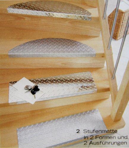 Treppenstufe-SET ALU, 60x18 cm, eckig, glänzend (15 Stück = 1 VE)