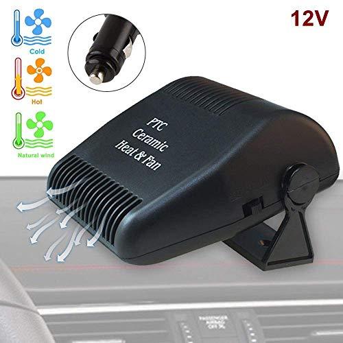 Tragbare Auto Heizung Defroster Windschutzscheibe Heizung wärmer 2 in 1 Kühler Scheibenabtauung 12V 150W Schnelle 180-Grad-Rotation Geräuscharm für LKWs