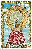 Virgen del Pilar. Azulejo fabricado artesanalmente para decorar. Cerámica para colgar. Calca cerámica. TORO DEL ORO (45x60 cms)