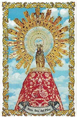 Virgen del Pilar. Azulejo fabricado artesanalmente para decorar. Cerámica para colgar. Calca cerámica. TORO DEL ORO (20x30 cms)