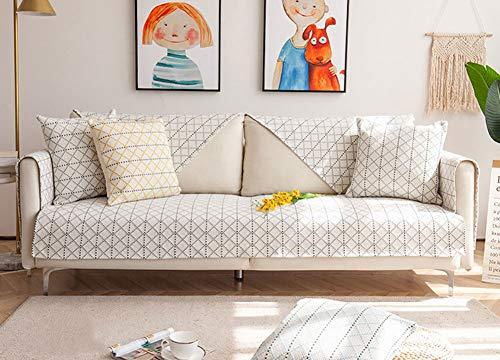 Funda antideslizante para sofá de WSJMJ, de 1/2/3/4 plazas, resistente al agua, protección acolchada para sillón, funda para sofá de espuma antideslizante, marrón, 110 x 160 cm