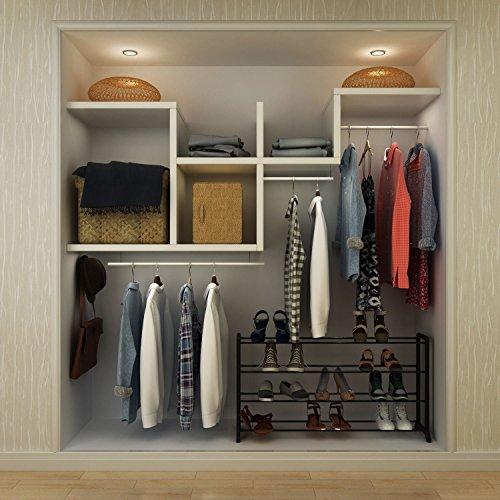 Creine 4/7/10 Tier Shoe Rack, Metal Free Standing Rack Space Saving Shoe Shelves in Closet Entryway Hallway, Black(US STOCK)