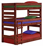 Cass County Twin Triple Bunk Bed (Mahogany)