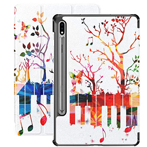 Piano And Piano Keyboards Samsung Tablet Cover For Samsung Galaxy Tab S7/s7 Plus Galaxy Tab S7 Plus Case Stand Back Cover Galaxy Tab E Case For Galaxy Tab S7 11 Inch S7 Plus 12.4 Inch