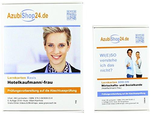 AzubiShop24.de Kombi-Paket Lernkarten Hotelfachmann/-frau: Erfolgreiche Prüfungsvorbereitung auf die Abschlussprüfung
