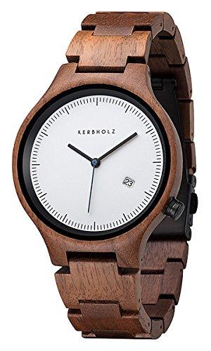 Kerbholz Lamprecht Date Walnuss Holz-Armbanduhr Lamprecht-Date-Walnut