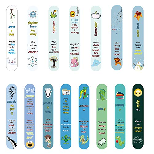 62 Pieces Magnetic Bookmarks Magnetic Page Markers with 31 Different Hilariously Silly Jokes and Brain Twisters for Kids, Teens, Students Reading Stationery and Gifts