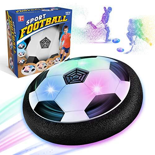 WEARXI Fussball Geschenke Jungen 5 6 10 Jahre - Hover Ball Spielzeug Ab 5-10 Jahre Junge mit LED-Licht, Air Hockey Kinderspielzeug, Indoor & Outdoor Kinder Spiele, Ostergeschenke (1 Pack)