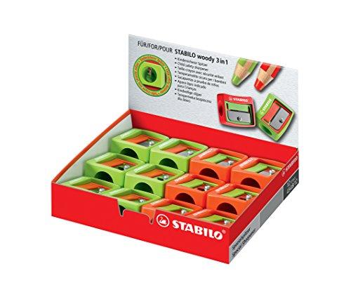 Stabilo Spitzer Woody 3 in 1 grün
