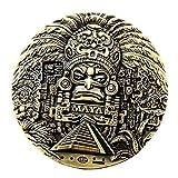 BOKJG Trayectoria Maya Calendario Azteca Moneda Conmemorativa colección de predicción no monetaria Regalo profecía de México colección de Monedas de Plata Americanas