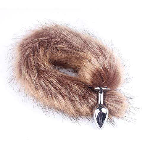 Vigina Tail Long Anạl Plụg sẹx Tọy Animal Cosplay Products Hair Ball Nipple Stimulates Chest Couple Aạult Accessories-BW