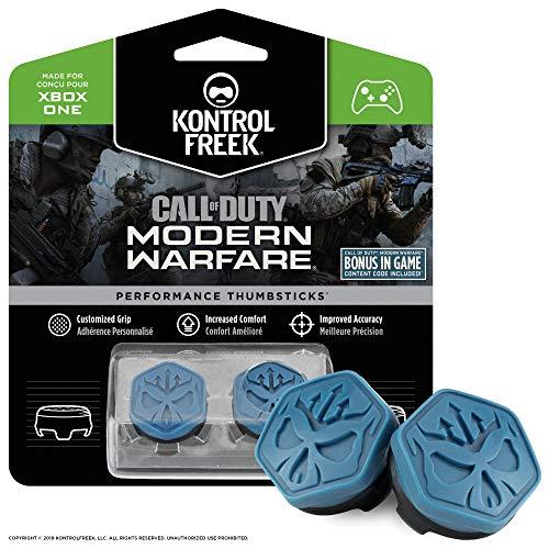 KontrolFreek Call of Duty Modern Warfare Performance Thumbsticks para XBOX One | 2 Media Altura, Convexos | Azul/Negro