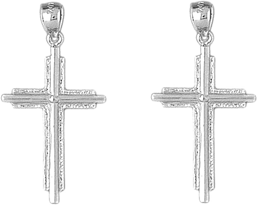 Jewels Obsession Latin Cross Earrings Product Gold Ranking TOP20 Cro 14K White