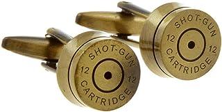 زوج من أزرار الأكمام من MRCUFF بتصميم قوقعة رصاصية لشرطة الجيش في صندوق هدايا وقطعة قماش تلميع