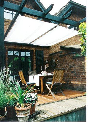 Floracord Sonnensegel Bausatz Universal 270 x 140 cm uni, weiß, 04-77-03-10P