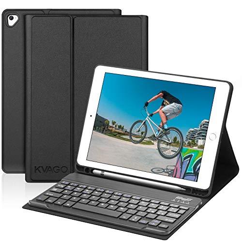 Tastiera Custodia per iPad 9.7, KVAGO Custodia con Tastiera per iPad 2018(6th Gen)/2017 (5th Gen)/Air 2/Air/Pro 9.7, Bluetooth Italiano Slim Tastiera con Sonno Automatico e Funzione Stand Cover, Nero