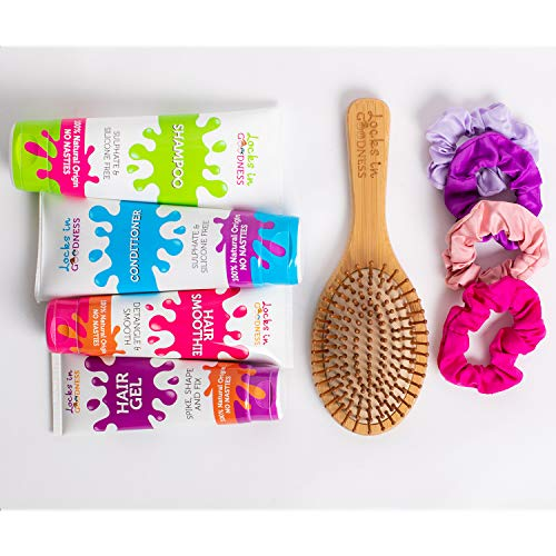 Locks in Goodness, Natural Hair Care Build Your Own Gift Set, Choose Any Two Tubes From Natural Shampoo, Conditioner, Hair Smoothie Or Gel, And Either a Brush or Scrunchie