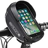 WOTOW Bolsa con Marco de Bicicleta, Bolsa de Tubo Frontal para Bicicleta Soporte de teléfono móvil con Barra Transversal Impermeable con Cubierta para Lluvia para teléfono Inteligente de 6.5'