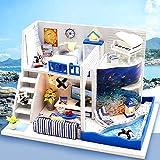 Magic House(マジック ハウス)The Sound of the Sea ドールハウス ミニチュア LEDとオルゴール(ラピュータ)付属 防塵ケース付属 手作りキットセット