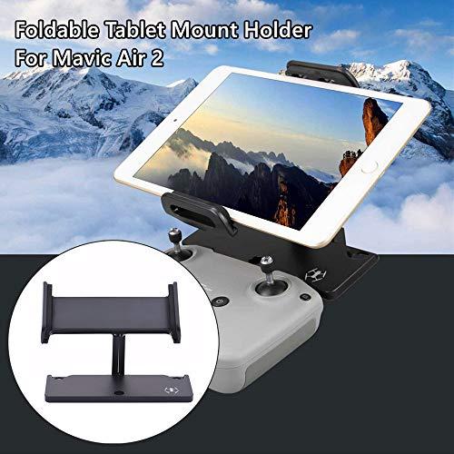 Alecony, supporto per tablet e telefono compatibile con DJI Mavic Air 2/Mavic 2/Pro/Mavic Air/Spark Drone, regolabile pieghevole in alluminio, staffa di supporto estensibile, supporto 4-12 pollici