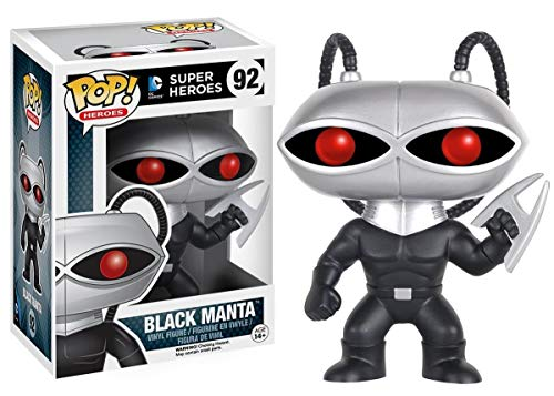 Funko Pop: DC Comics: Super Heroes - Black Manta Figure + FUNKO PROTECTIVE CASE