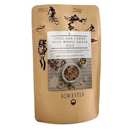 Forestia, Plato de carne envasado (Chili con carne y arroz integral) - 4 de 350 gr. (Total 1400 gr.)