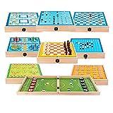 Dingyue Juego de mesa de madera multifuncional para padres e hijos Juegos de mesa plegables Juguetes de interacción padre-hijo