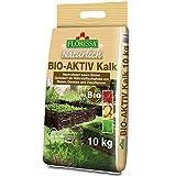 Florissa Natürlich 58669 BIO-AKTIV Kalk (10 kg)   für einen moosfreien Rasen   für Gemüse- und Zierpflanen und den ganzen Garten  bei der Trinkwasserentkalkung gewonnen, Braun