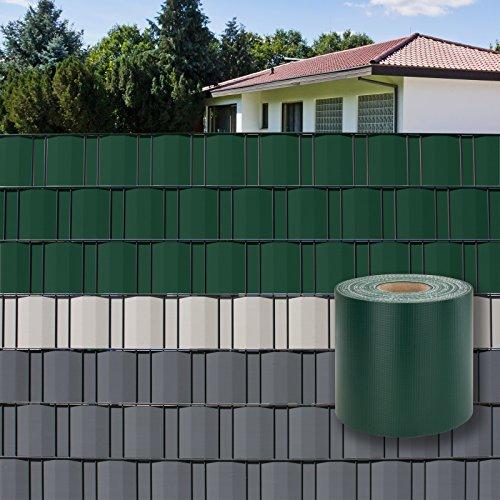 DEMA PVC Sichtschutzstreifen 70 m x 19 cm grün
