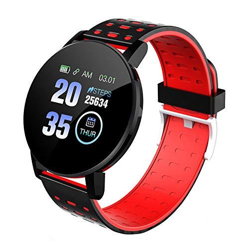 Zumint - Reloj de Pulsera con Monitor de frecuencia cardíaca y sueño, IP67 Impermeable Deportivo, Pantalla táctil de Alta definición, Rojo