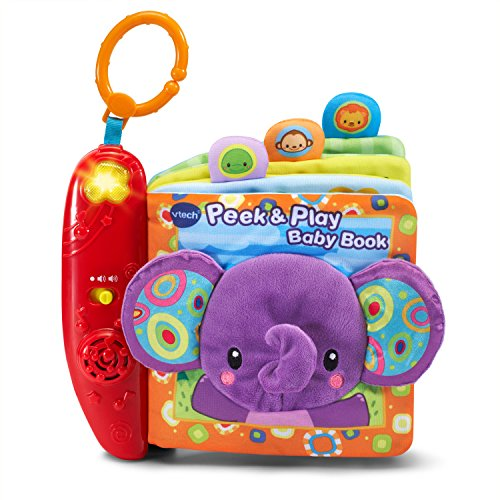 VTech Baby Peek and Play Baby Book Amazon Exclusive, Purple