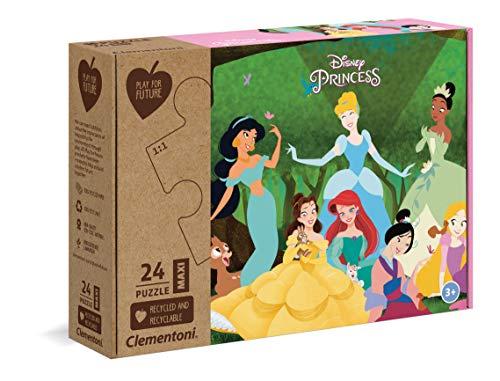 Clementoni Play For Future-Disney Princess-24 pezzi-materiali 100% riciclati-Made in Italy, puzzle bambini 3 anni+, 20257