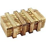 com-four® Magic Box, Zauberholzkasten, Magische Geschenkbox, Geldtresor, Schatztruhe, Trickbox aus Holz